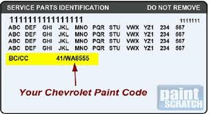 locating your vehicle u0027s paint code u2013 racingjunk news