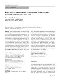 effect of gold nanoparticles on adipogenic differentiation of