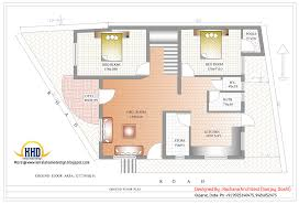 Indian home design with house plan 2435 Sq Ft