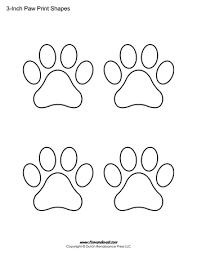 paw print template paw print shapes 3 inch tim s printables