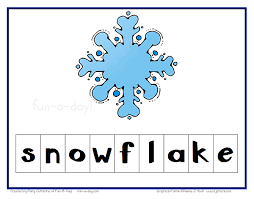 preschool winter activity making words with letter tiles