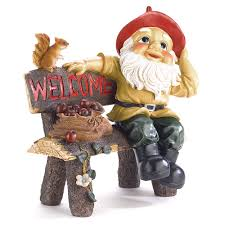 garden gnome welcome greeting shop discounted home u0026 gardening