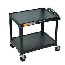 Cart Fixed Height Steel A V Cart Two Shelves Luxor