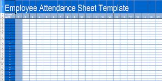 Sheets Template Excel Microsoft Word Attendance Sheet Template
