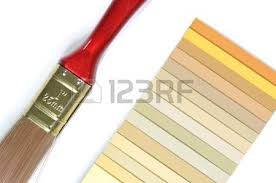 expanded fans of color samples guids stock photo picture and