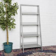 Sauder Ladder Bookcase by Walker Edison Furniture Company 55 In Wood Ladder Bookshelf