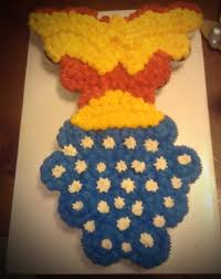 Wonder Woman Cake Cupcakes Placed In The Shape Of Her And