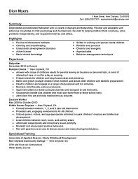 Caregiver Description For Resume Nanny Resume Unusual Inspiration Ideas Resume For Babysitter 15