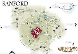 Outerbanks Map Sanford Area Points Of Interest Autumnwood Sanford