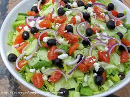 kitchen simmer greek salad with creamy dressing