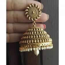 big jhumka gold earrings jhumkas big jhumka gold plated online shopping india the