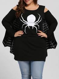 Halloween Costumes T Shirts by Plus Size Spider Batwing Halloween Costume Black Xl In Plus Size