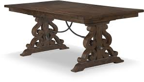 magnussen bellamy dining table st claire rustic pine extendable rectangular dining table from