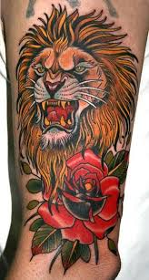 awesome lion tattoo on the back tattoomagz