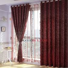 chic burgundy blackout curtains insulated thermal blackout