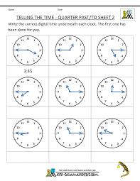 clock worksheets online clock worksheet quarter past and quarter to