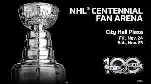 nhl centennial fan arena bruins to host nhl centennial fan arena nov 24 25