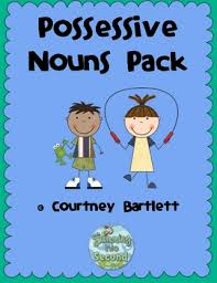 teach possessive nouns with a teaching poster and a fun game for