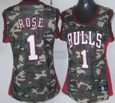 chicago bulls 23 michael jordan camo fashion womens jersey on