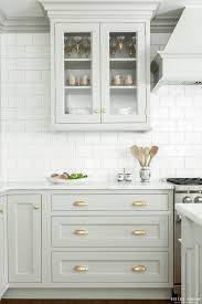 kitchen furniture hutch look we love gray kitchen cabinets with brass hardware kitchn