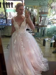 finally got to try on my custom made wedding dress