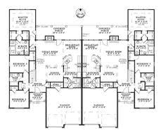 Multi Family Home Floor Plans Sunset Farm Luxury Duplex Plan 055d 0060 House Plans And More