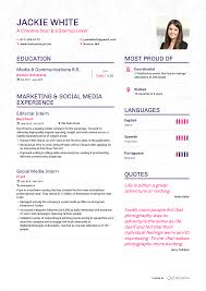 Simple Resume Template Sample Enhancv Example Resume Jackie White Page 1 About Work