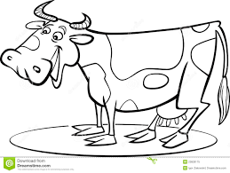 cartoon cow coloring page royalty free stock photo image 23828175