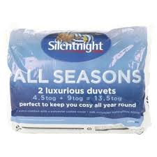 Silentnight 13 5 Tog Double Duvet Buy Silentnight All Seasons 4 5 9 Tog Duvet Double From Our Double