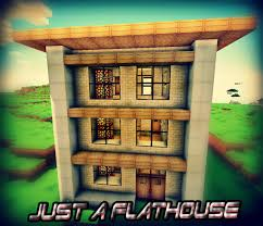 Simple Design House Just A Flathouse With Simple Design Minecraft Project