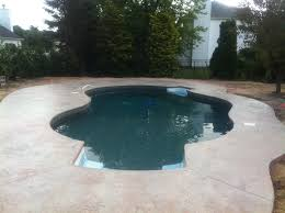 stamp concrete pool deck new jersey masonry contractor