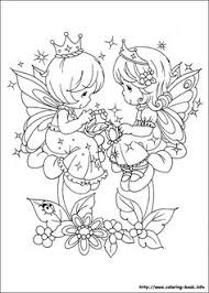 cute girls precious moments coloring pages description