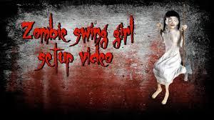 lil nester spirit halloween zombie swing prop setup video youtube