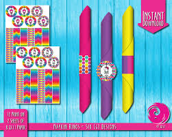 instant download magical rainbow birthday party