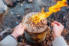 How To Lite A Fire Pit - how to make a swedish fire log fresh off the grid
