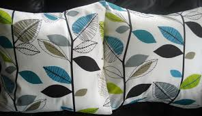 blue and gray sofa pillows teal couch pillows blue and gray throw pillows linen damask print