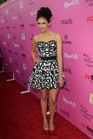exclusive hollywho knew nina dobrev scooped up her dress u0026 shoes
