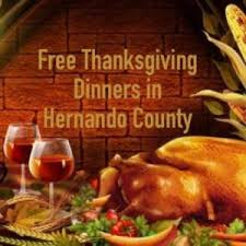 free thanksgiving dinners in hernando county 2014 springhillnow