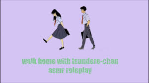 asmr roleplay walking home with tsundere chan youtube