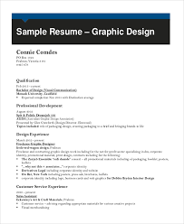 Sample Resume Of Graphic Designer by Sample Graphic Designer Resume 9 Examples In Word Pdf