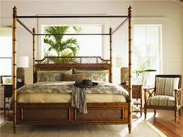 Island Estate KingSize West Indies Canopy Bed - Bedroom island
