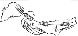 Himilayas Map Himalayan Mountains Map