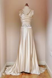 sample sale oyster champagne silk satin art deco style wedding