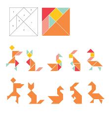 tangram refrigerator magnets tutorial crafty fun pinterest