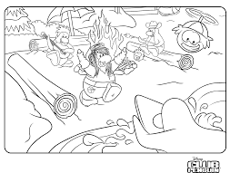 new club penguin jetpack adventure coloring page inside club