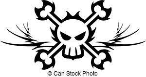 pirate skull and crossbones skull and crossbones pirate clip