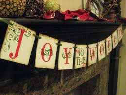 christmas decoration joy to the world banner by bekahjennings