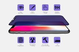 Blue Light Wavelength Iphone X Anti Blue Light 3d Tempered Glass Screen Protector Anti