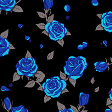 blue roses blue roses on black fabric analinea spoonflower