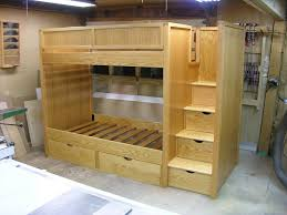arrange king size loft bed with stairs in the corner modern king